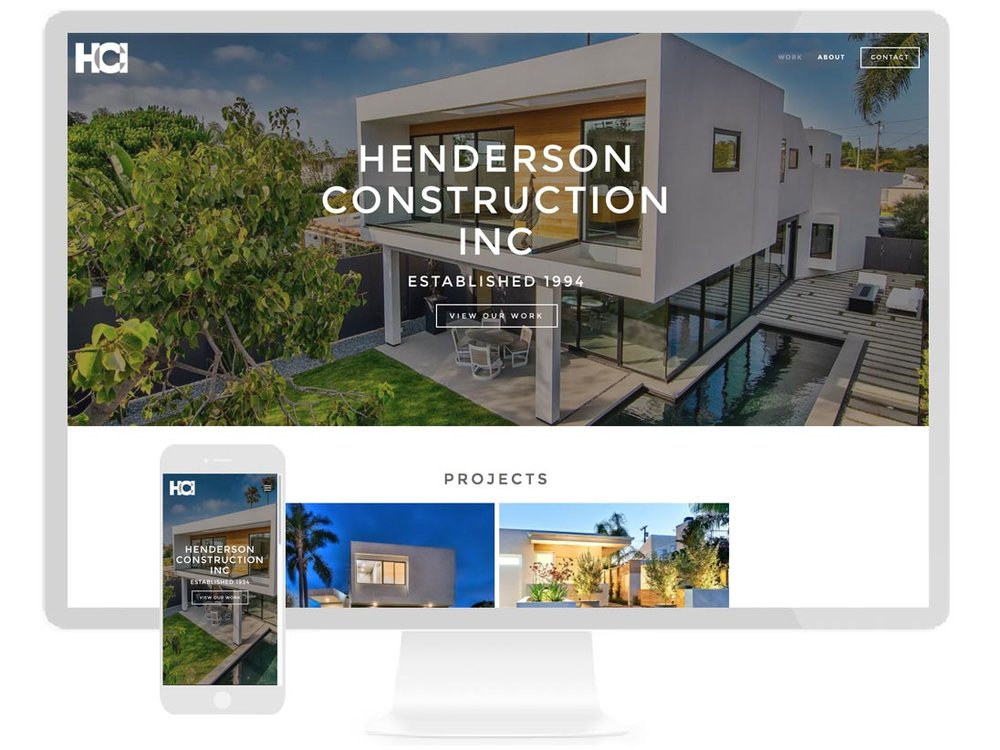 HCI HENDERSON CONTRUCTION INC. General Construction Contractor focusing on building custom home renovations - design by Sterling Visuals, development by Squarespace