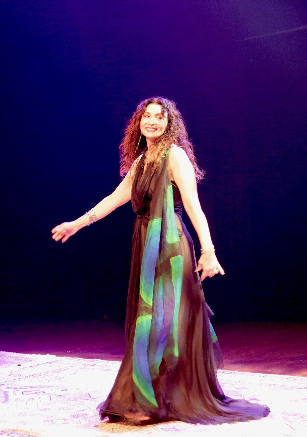 Sholeh Wolpé in performance, Sydney, Australia 2018
