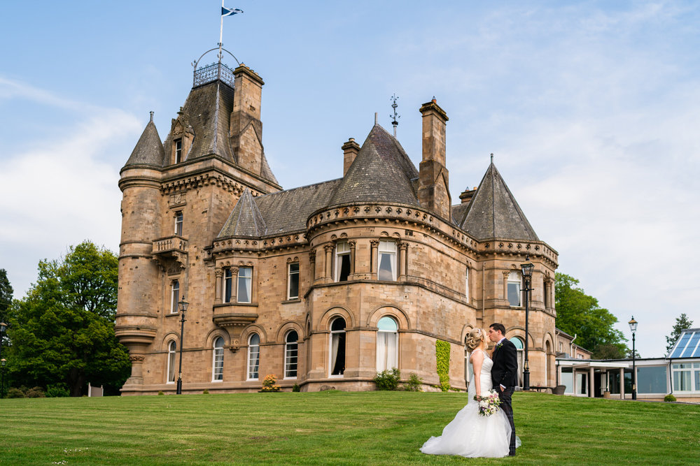 Cornhill Castle - A beautiful, elegant castle hotel, nestled in the countryside in the Scottish Borders. See more from this stunning venue from Claire and Dale's wedding below!