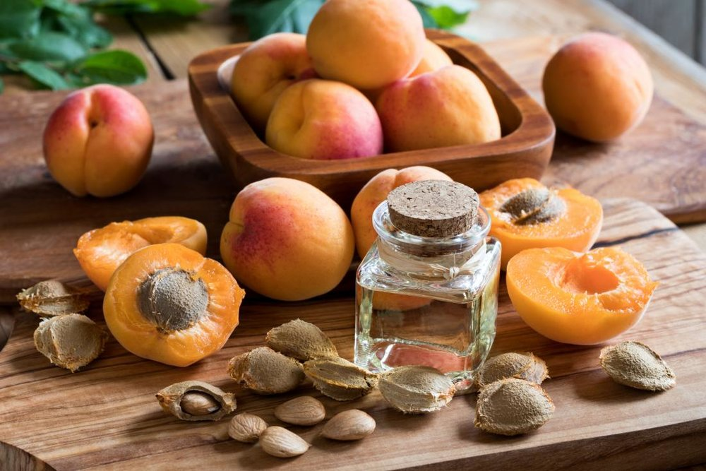 Apricot Kernel Oil - Contains gamma Linoleic acid that is useful to firm and tone your skin. This also contains Vitamin A and E to soothe and slow down the aging process. It has nourishing properties and an anti-inflammatory effect to soothe eczema.