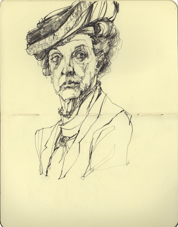 The Dowager Countess of Grantham (Downton Abbey) with a slightly messed up right eye