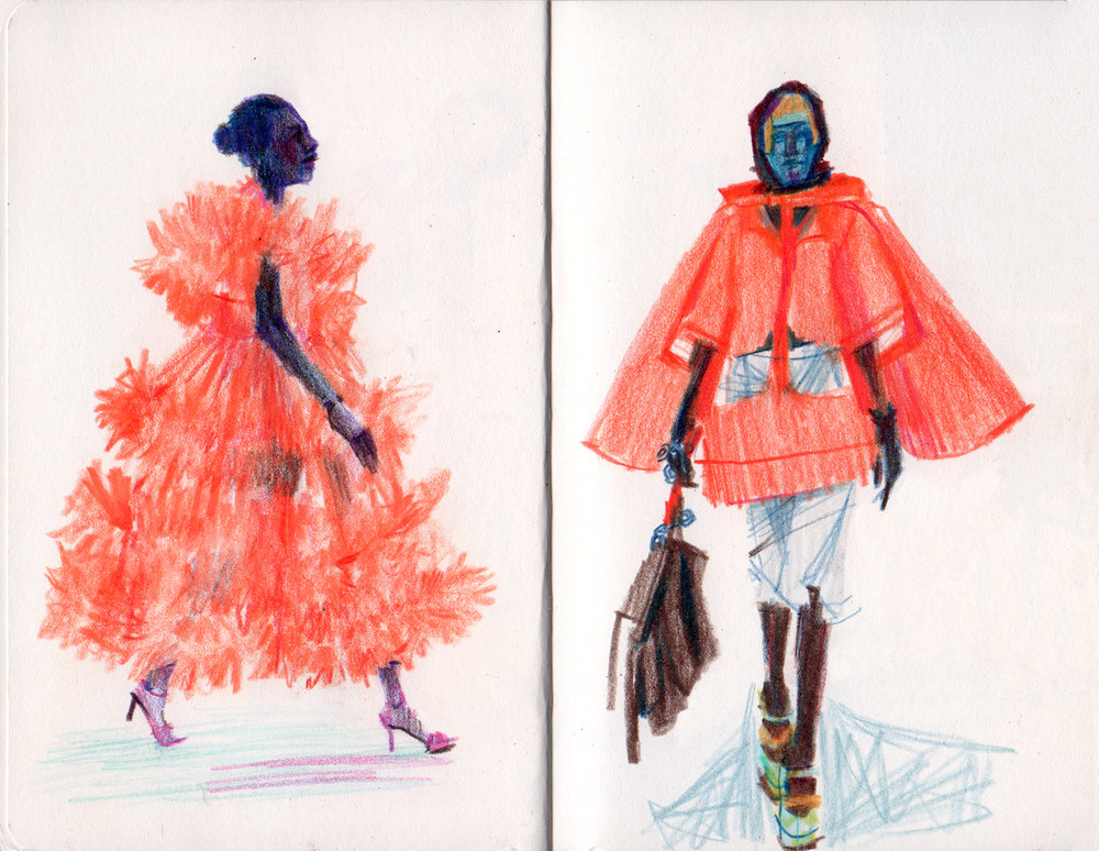 Orange for days /L: Molly Goddard AW18/ R: Maison Margiela Fall 2018 Couture