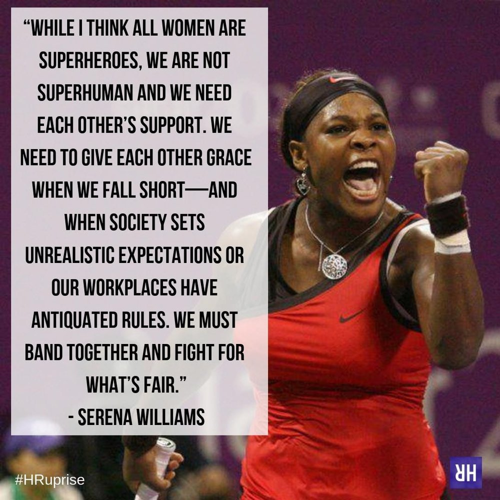 """Serena Williams on International Women's Day: 'We Must Band Together to Fight for What's Fair'"" via Fortune"