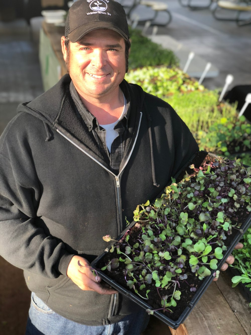 Matthew Bass plans to grow some 300 trays of microgreens at NFM weekly in an area that will occupy the equivalent of about half a tennis court.