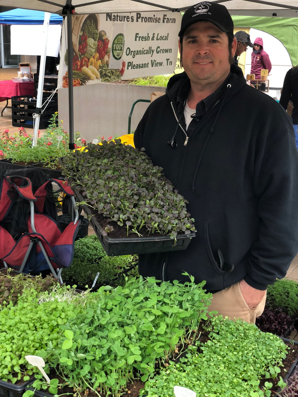 Matthew Bass and his microgreens can also be found at the NFM's Vanderbilt Neighborhood Market, which will pop up every Thursday in 2019 from June 6 to October 31.