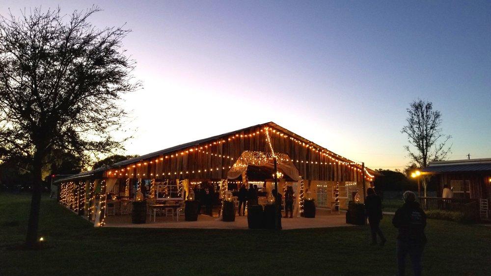Wishing Well Barn, a popular wedding venue in Plant City, Florida