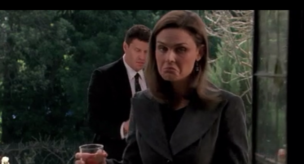 Temperance Brennan looking NOT sad.