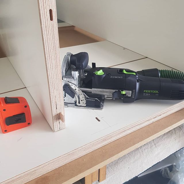 Hey guys! Matty here... after all the pm's for an update on Matt Clarke kitchen and design I thought I better do just that!  I have been flat out of late working with some great people. Patty even popped down and lent a hand 👬🏼. Currently working on a fun bit of joinery with the new @festool domino.  Can anyone guess what the end result of this project will be?