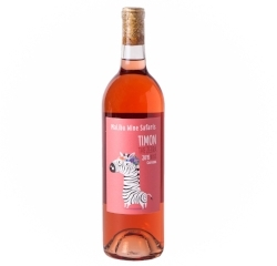 2015 Malibu Wine Safaris Rose of Zinfandel (Timon the Zebra),- Lodi   This fruity Rose has strong notes of strawberry and honeydew with an almond, bready finish.