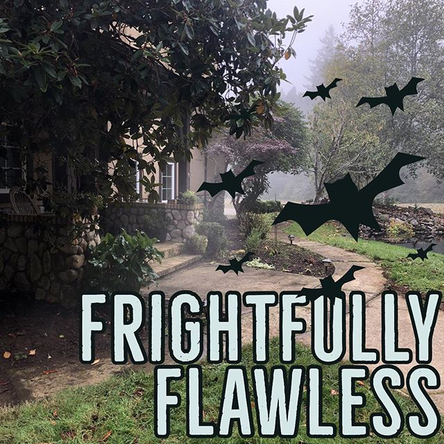 """We couldn't help but snap a spooky """"before"""" shot of this impressive home. After pics coming soon! 🌫🦇💦 #cubicft #pressurewashing #housewash #housewashing #letswashit #florenceoregon"""