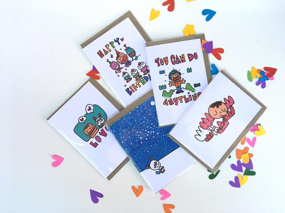 Midget birthday cards