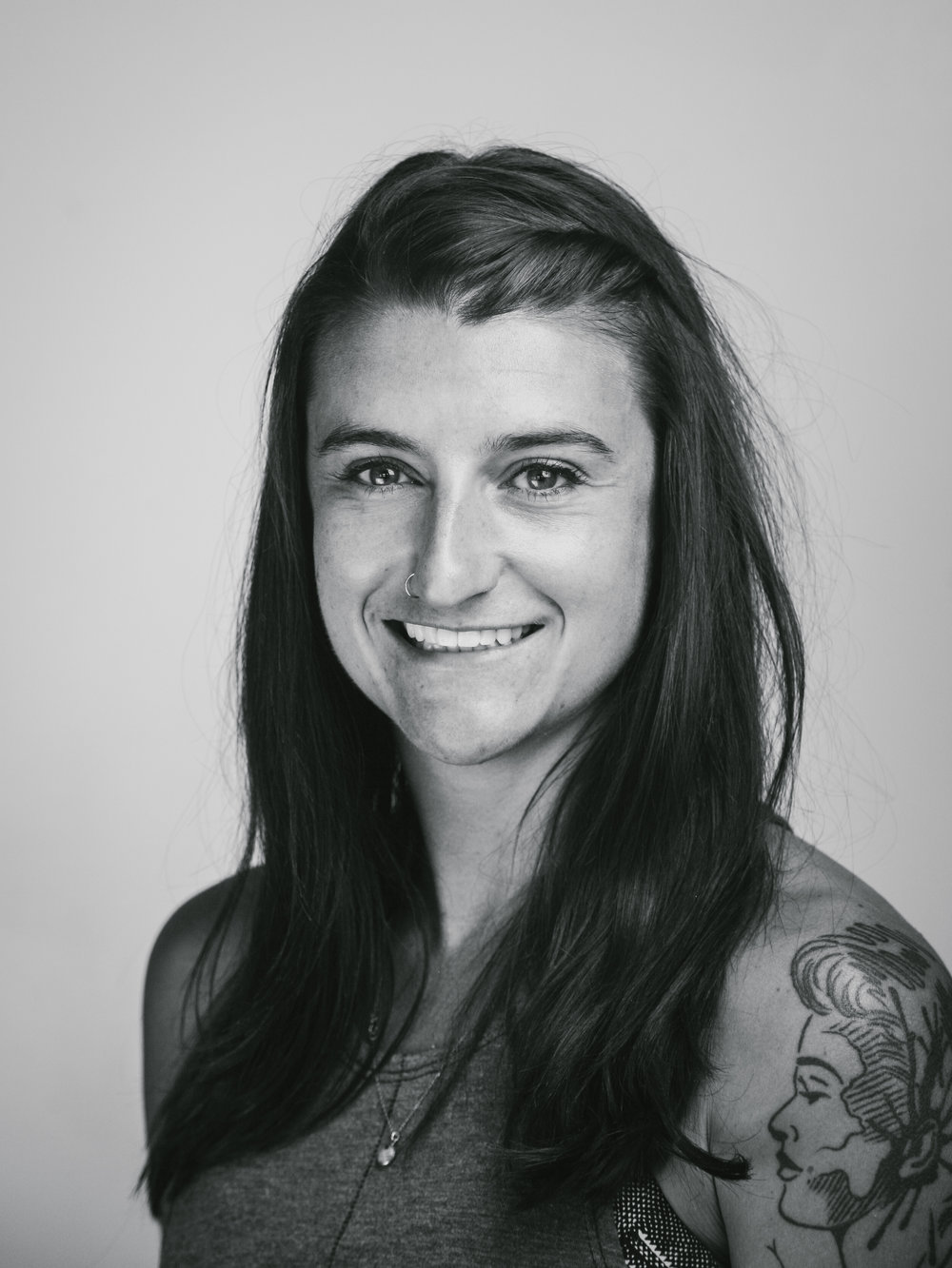 Erin Butler - I teach: TRX & Train StrongI am a certified personal trainer, nutritionist and outdoor enthusiast. I teach because it's invigorating to see individuals challenge their own strength every class. Showing up is half the battle, my hope is I can make it that much more appealing to come back and work hard over and over again.Words I Live By: Let her be free.Beats I Move To:full on dance party. I little bit of electronic, house music with some classic old school jams to mix it up.What I Live For:I am learning to be more vulnerable or open. To feel uncomfortable, or wrong, to make mistakes or try new things. This has produced more light and growth in my life than the fear based path I was previously choosing.