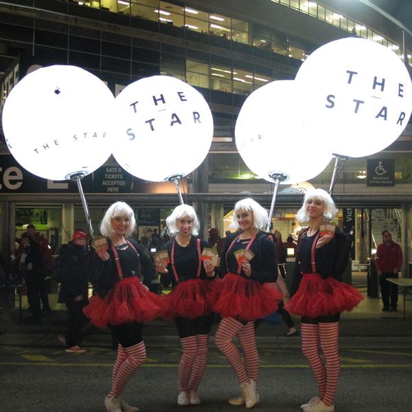 Airstar for Star Casino, Vivid Sydney. Dancing ambassadors.