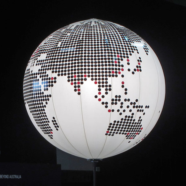 PATIENCE & PRECISION.  A digital globe highlighting world-wide offices.