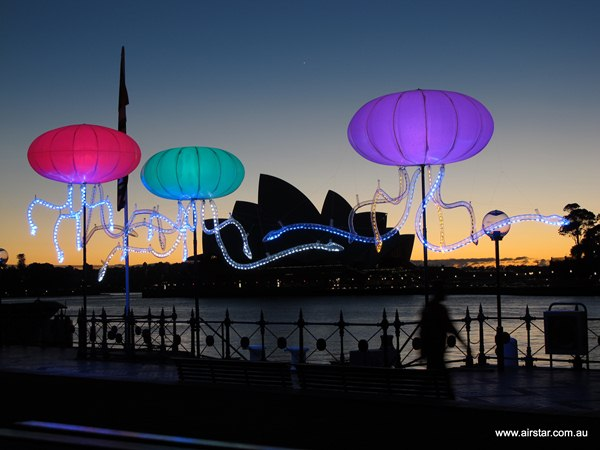 "Airstar ""Jelly lights"" at Vivid Sydney."