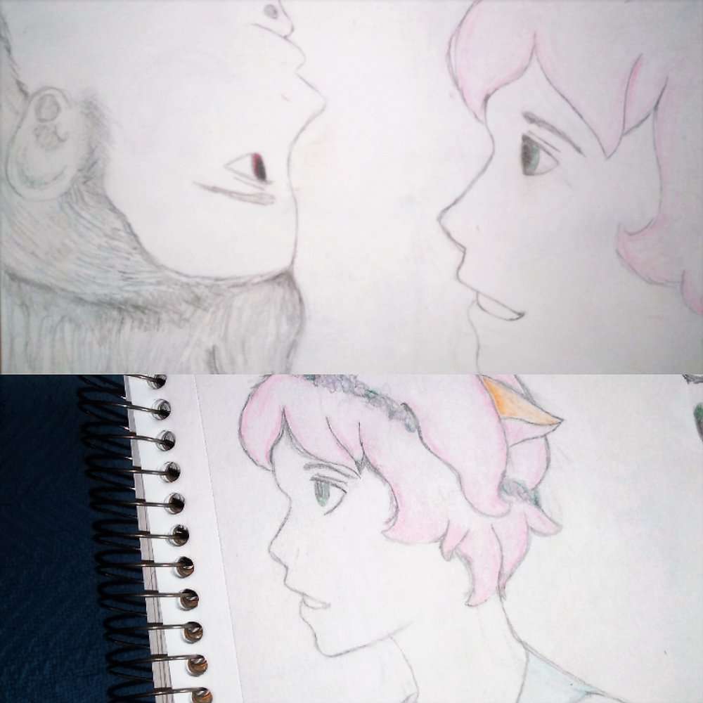 A couple of doodles of Mai and Josiah I did years ago.
