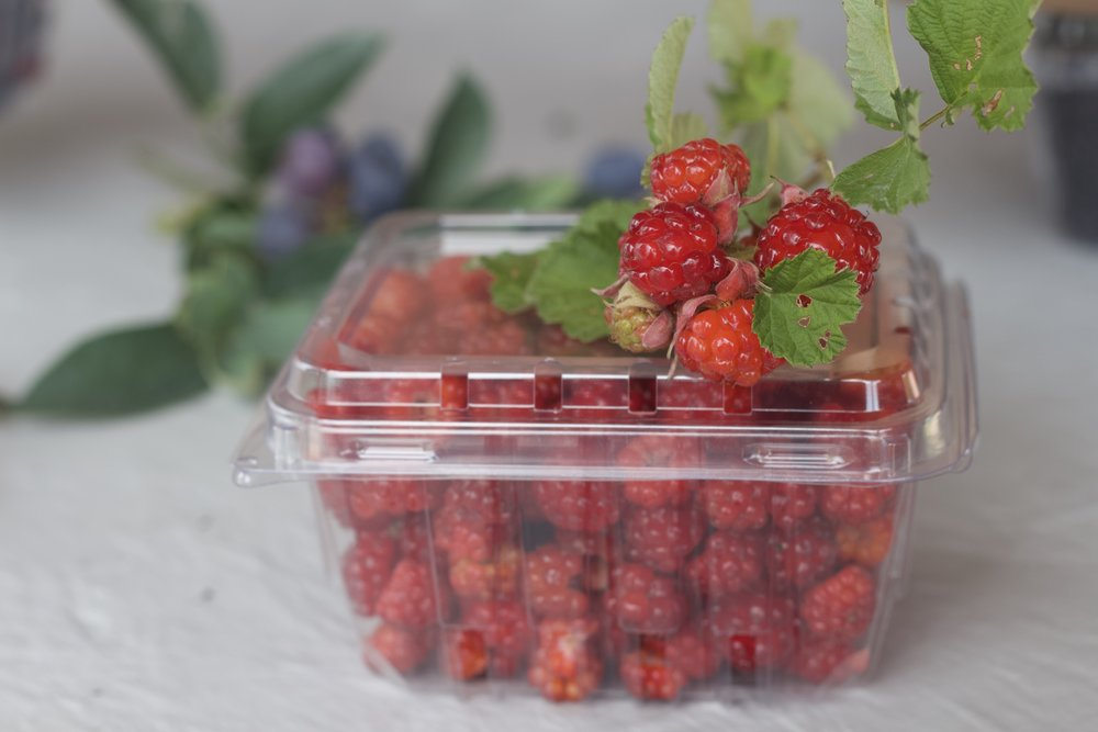 Raspberries | Pint clamshell $8