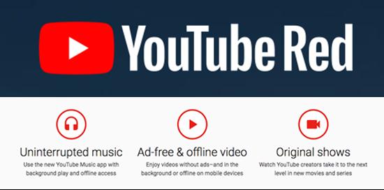 YouTube Red 会员付费服务 也强调了会提供原创内容