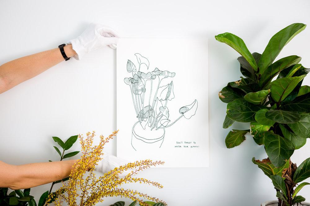 Harriet art print plants