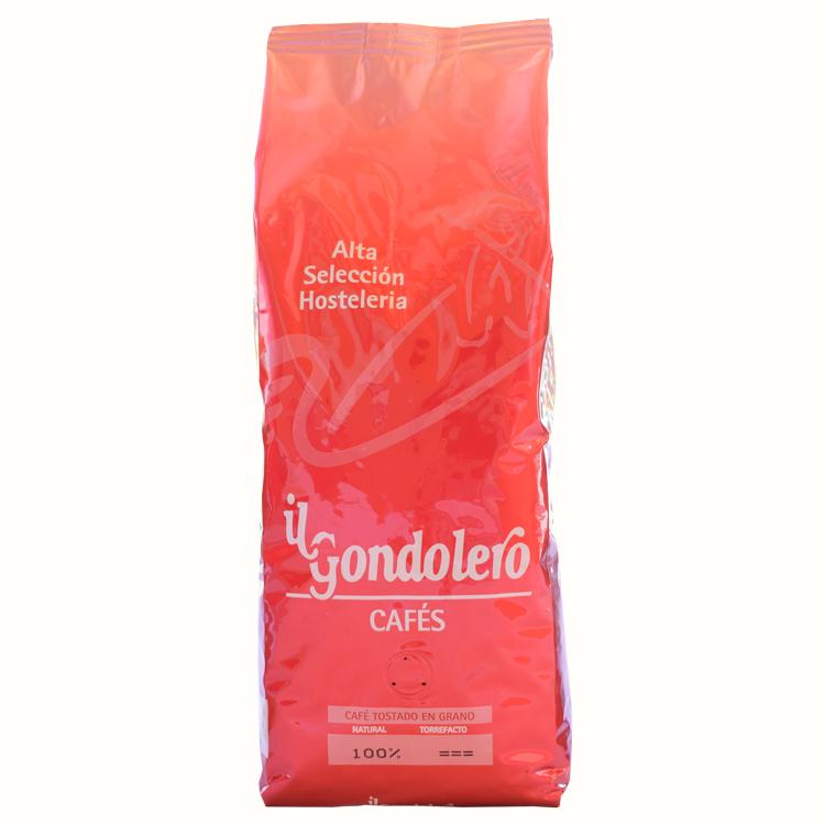 """Alta Selección - Equilibrada selección de cafés procedentes de los principales países productores de Centro y Suramérica, que nos permite conseguir una mezcla largamente contrastada y aceptada por nuestros clientes.""""Alta selección""""le ofrecerá una taza de sabor redondo, achocolatada de cimbreantes aromasque sus clientes sabrán apreciar.Envase 1Kg.Ingredientes : 83% Arábica, 17% Gran robusta. Cafeína 1,3% aprox."""