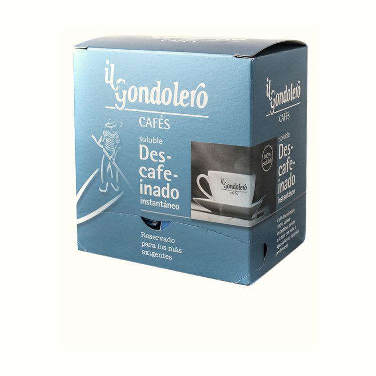 Descafeinado Soluble - Descafeinado instantáneo 100% soluble, envasado en monodosis.Estuche dispensador 60 unidades.