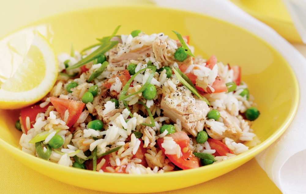 Tuna and Rice salad is something you can make once you have a microwave, get some rice in the microwave, a can of tuna and some mixed salad and veggies, either cooked from frozen or bought in a local deli. Cheap and on point, easy to make.