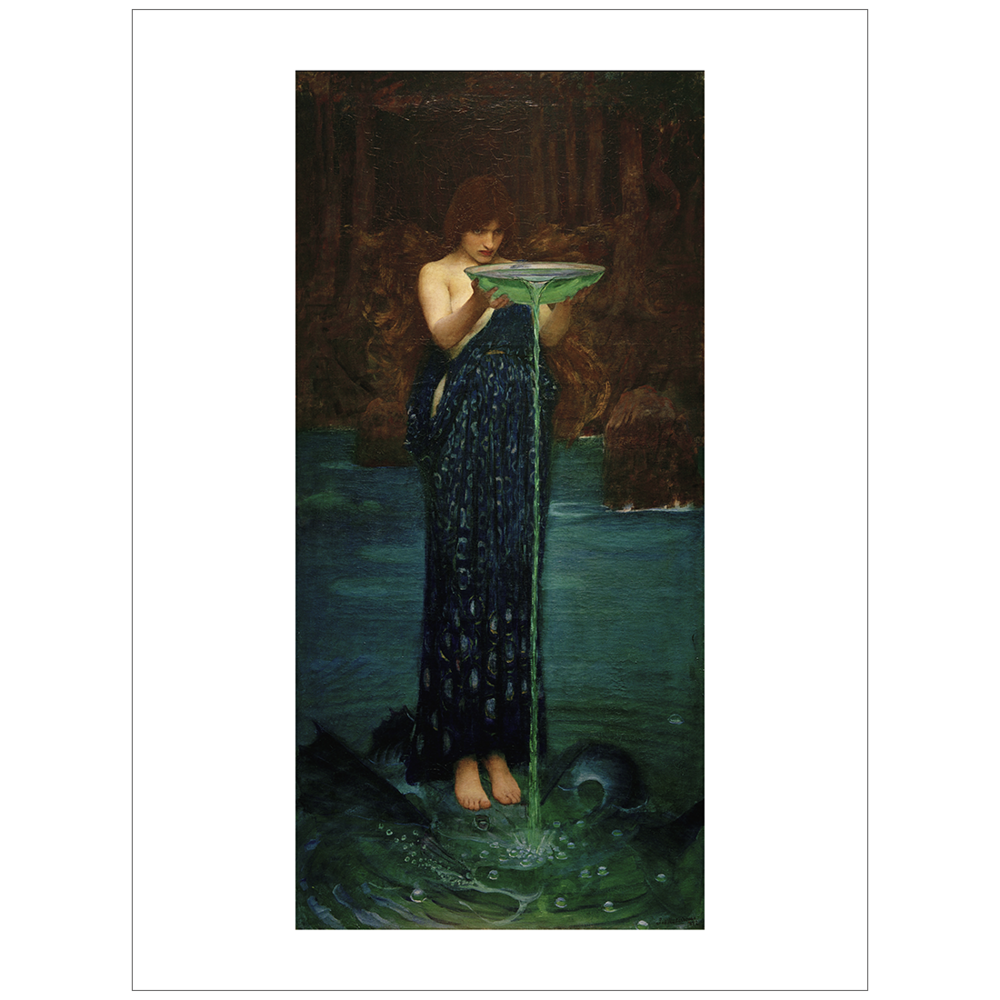 Waterhouse - Circe Poisoning the Sea