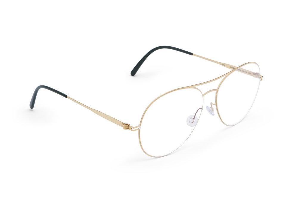 haffmans_neumeister_catalina_gold_darkgreen_clear_line_eyeglasses_angle_102056.jpg