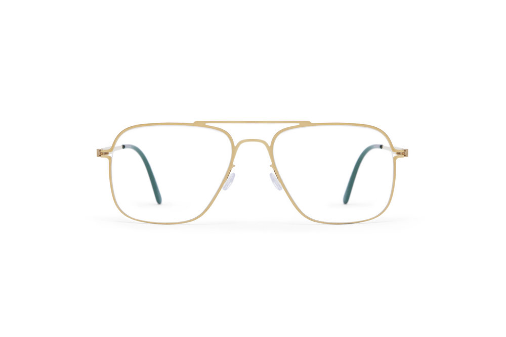 haffmans_neumeister_clipper_gold_darkgreen_clear_line_eyeglasses_front_102176.jpg