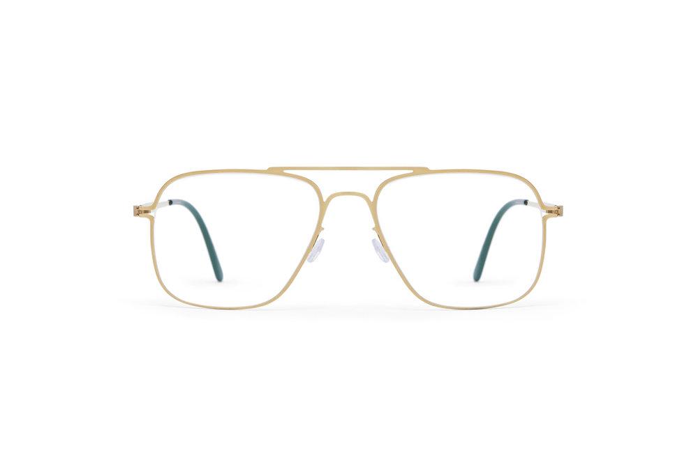 haffmans_neumeister_clipper_gold_darkgreen_clear_line_eyeglasses_front_102176.jpg
