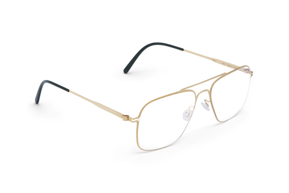 haffmans_neumeister_clipper_gold_darkgreen_clear_line_eyeglasses_angle_102176.jpg