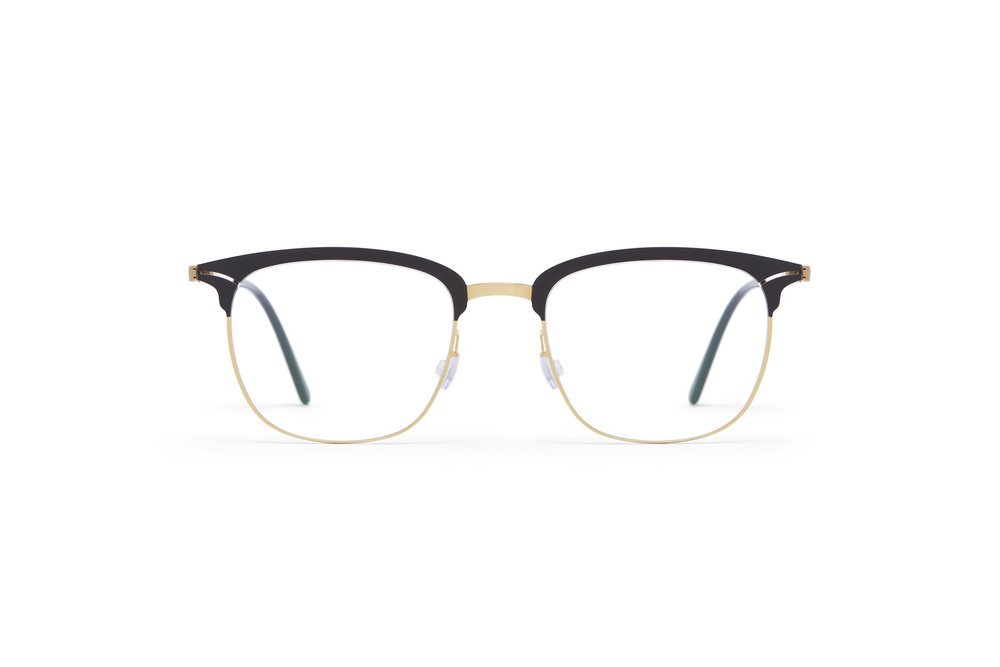 haffmans_neumeister_continetal_gold_brown_darkbrown_clear_line_eyeglasses_front_102208.jpg