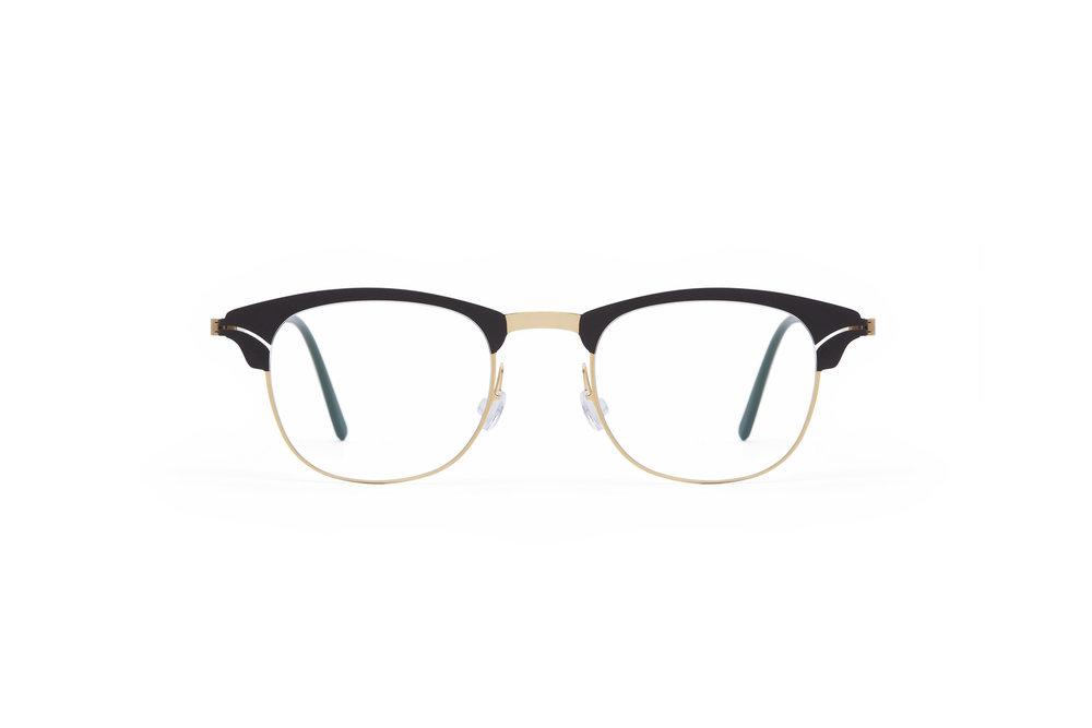 haffmans_neumeister_panamerica_gold_brown_darkbrown_clear_line_eyeglasses_front_102210.jpg