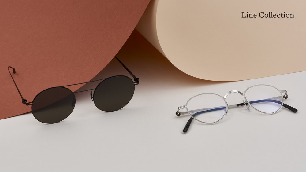 Iconic Eyewear - It begins with the classics. The Line Collection design concept is based on the most iconic eyewear shapes: Round, Oval, Panto, Aviator, Cat Eye and American Square. The development of each individual model involves an in-depth study of these foundational forms, streamlined into flat metal. With frames that are undeniably contemporary, Line is a collection for everyone.