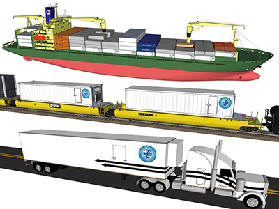 Our patented Transport Systems are engineered to work with the Traystor® Crate to deliver 25,000 lbs of live seafood by road, rail, and sea to any destination in the world.