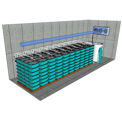 The Traystor® Purge System has a robust water filtration system and is essential for ensuring the survival of live seafood over long term holding and long haul transport.