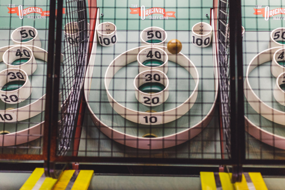 SKEE BALL - We've got the beach arcade classic right here in RVA! No tokens necessary. Just step right up, aim for 100, and let 'er rip!