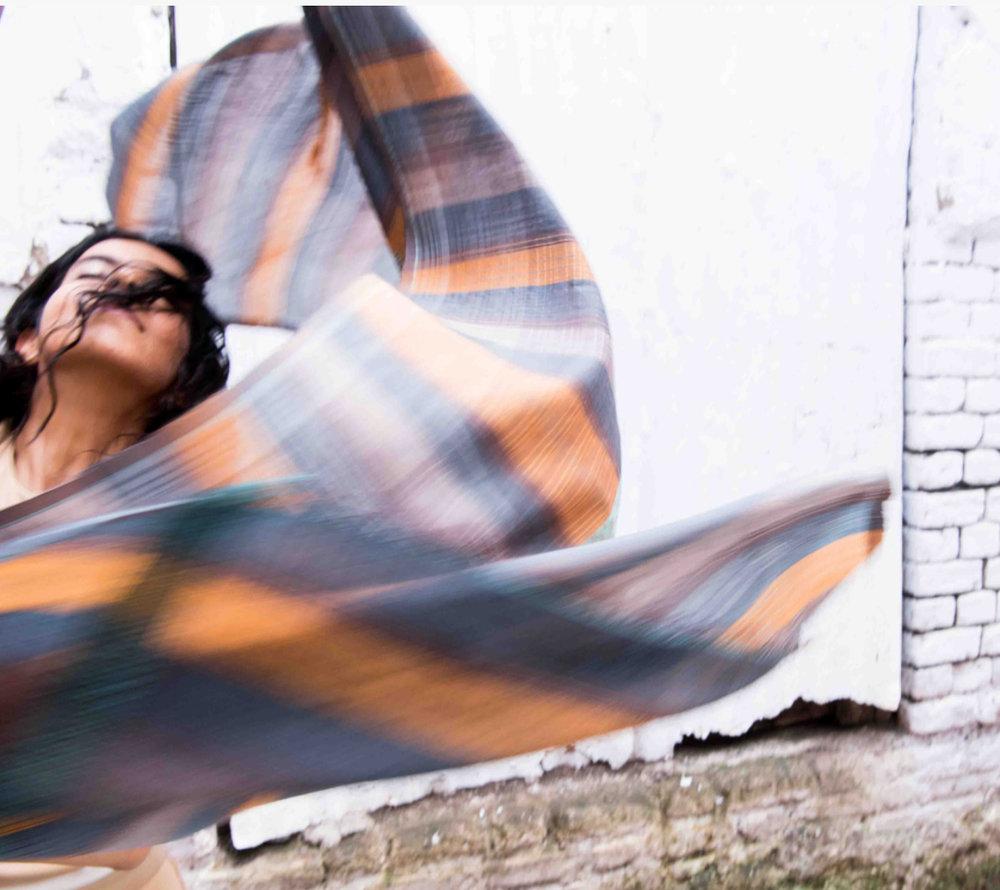 """""""Dancing Girl"""" Indus Valley Collection by Amba; Photo of Ekta Rajani by Hashim Badani"""