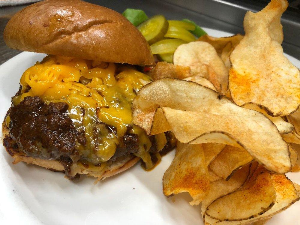 Burger Fridays - Award Winning Wild Game Burger Smoked Creole Mustard Lodge Made Chips $13 Every Friday At Lunch