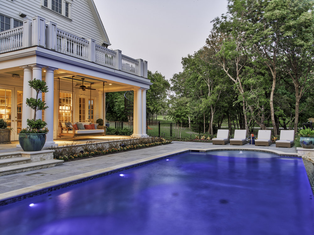 The beautiful new pool was designed and created by Aquaterra Outdoors.