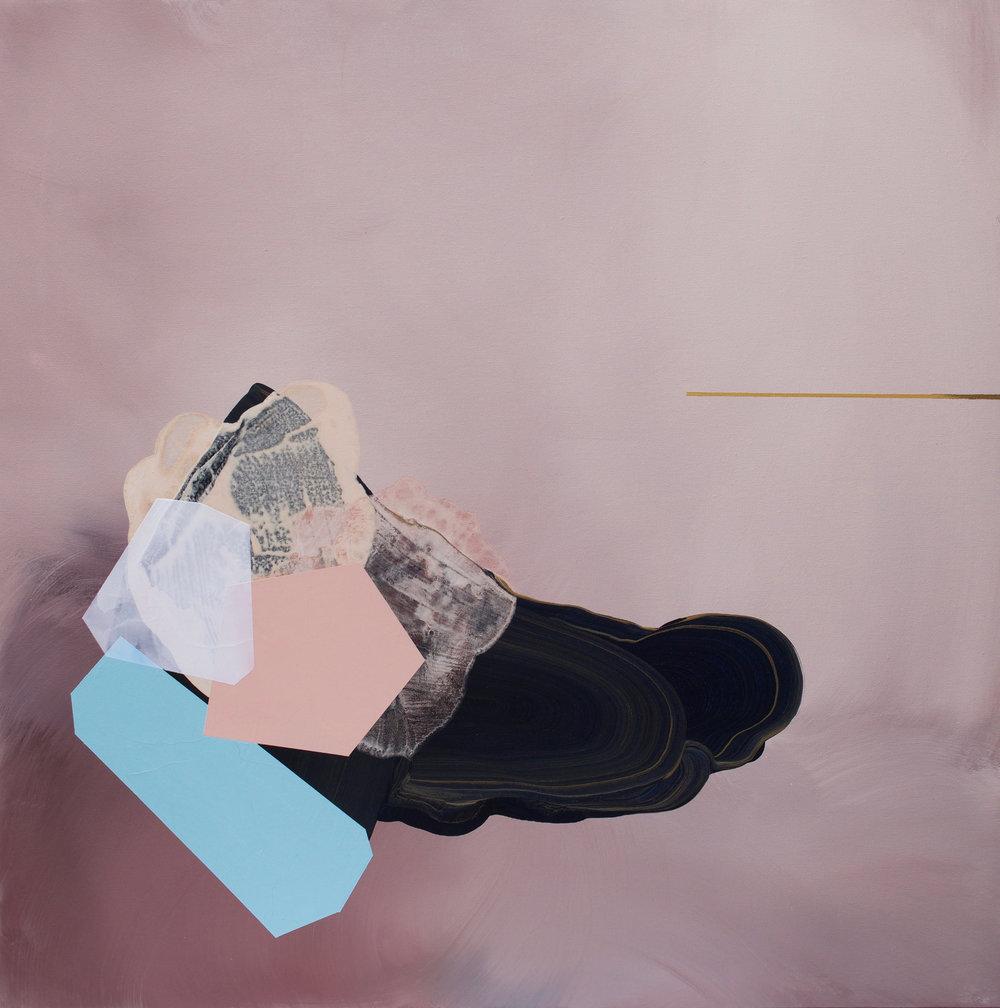 Wonderstruck  Mixed acrylic medium on canvas 36x36 inches Sold