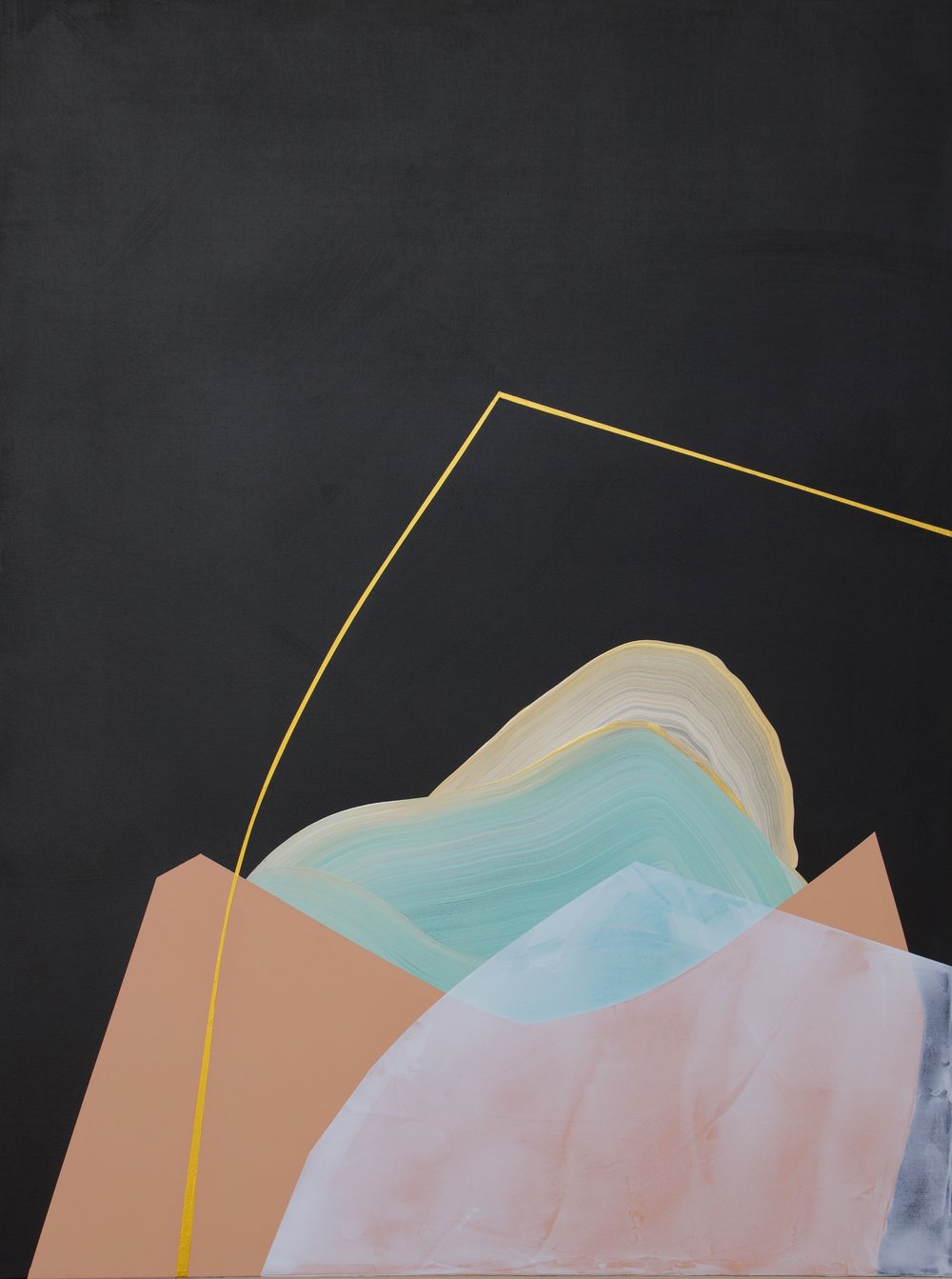 March Ahead  Mixed acrylic medium on canvas 40x30 inches $1100.00