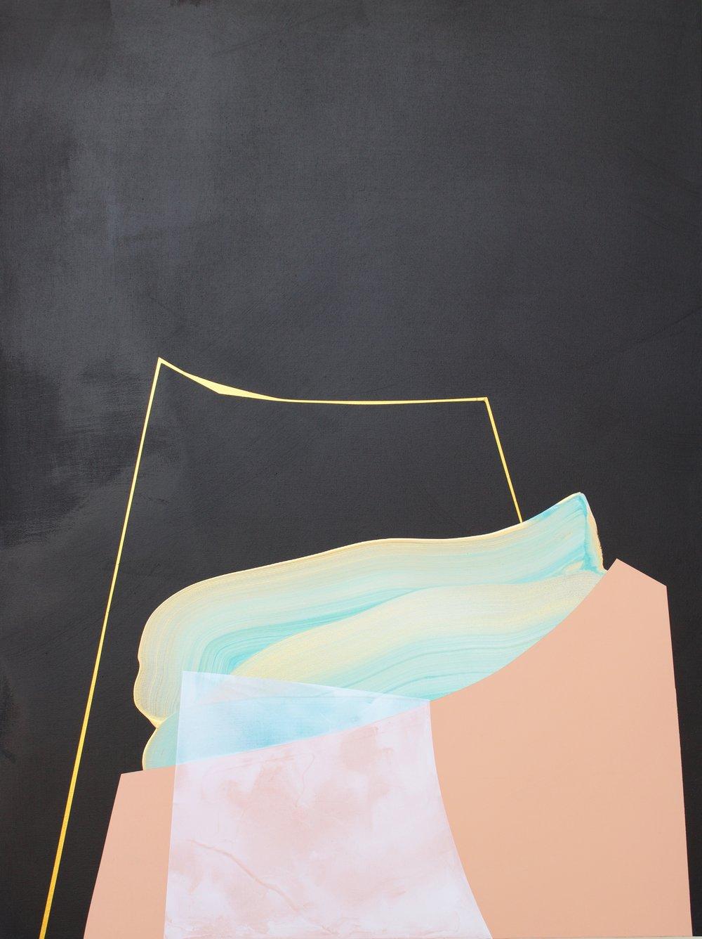 Onwards and Upwards  Mixed acrylic medium on canvas 40x30 inches $1100.00