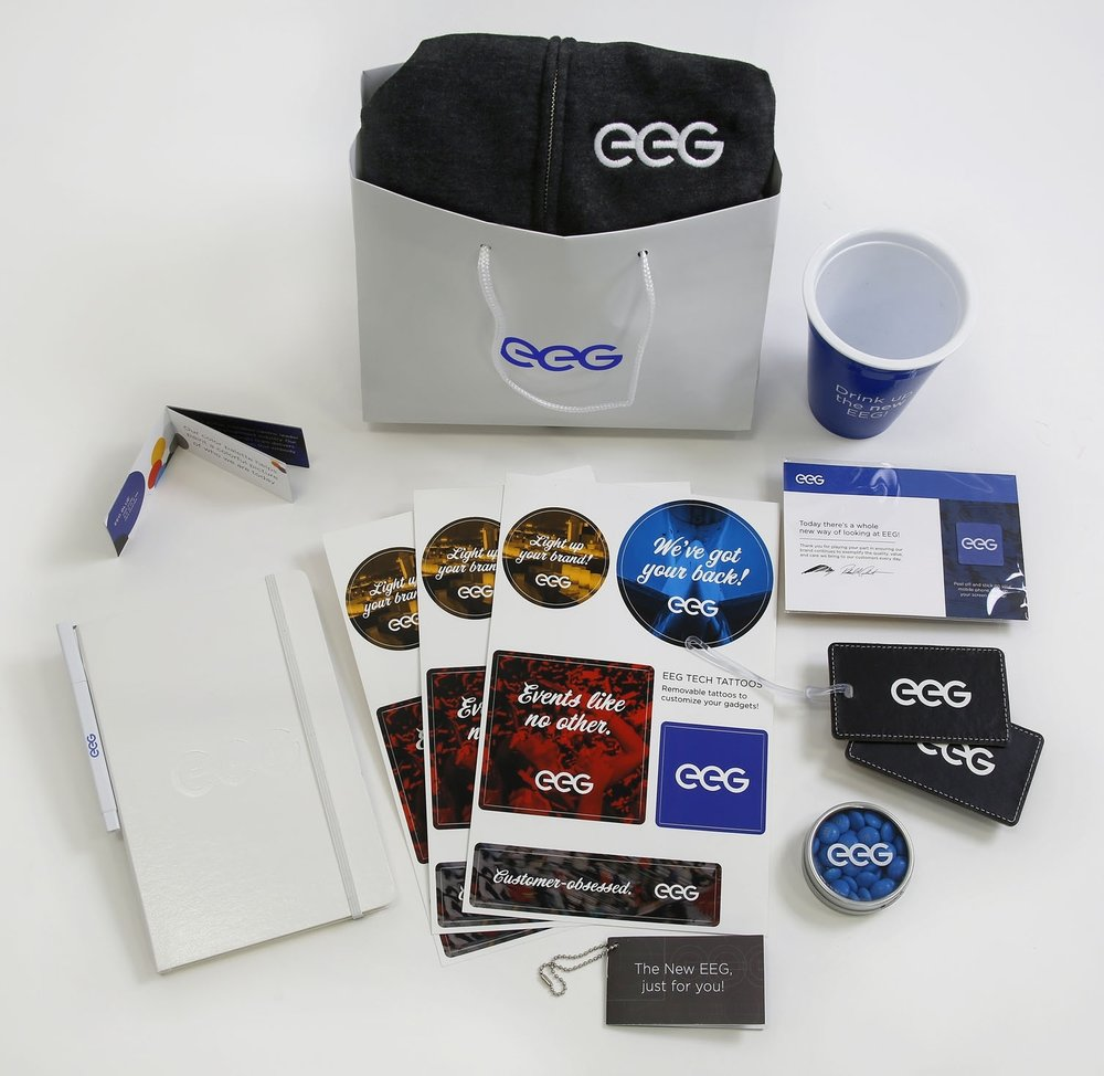 EEG Rebrand Launch Kits for employees