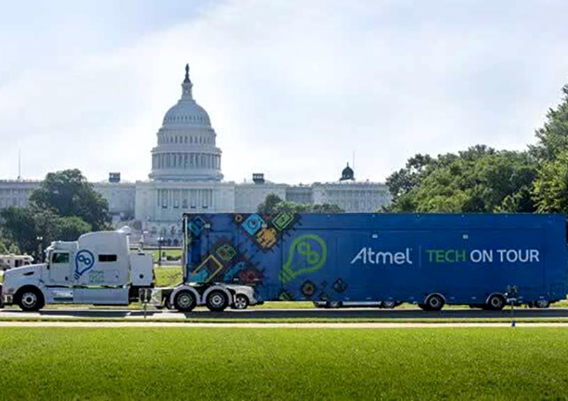 Atmel taking it to the streets with a custom-outfitted 18-wheeler