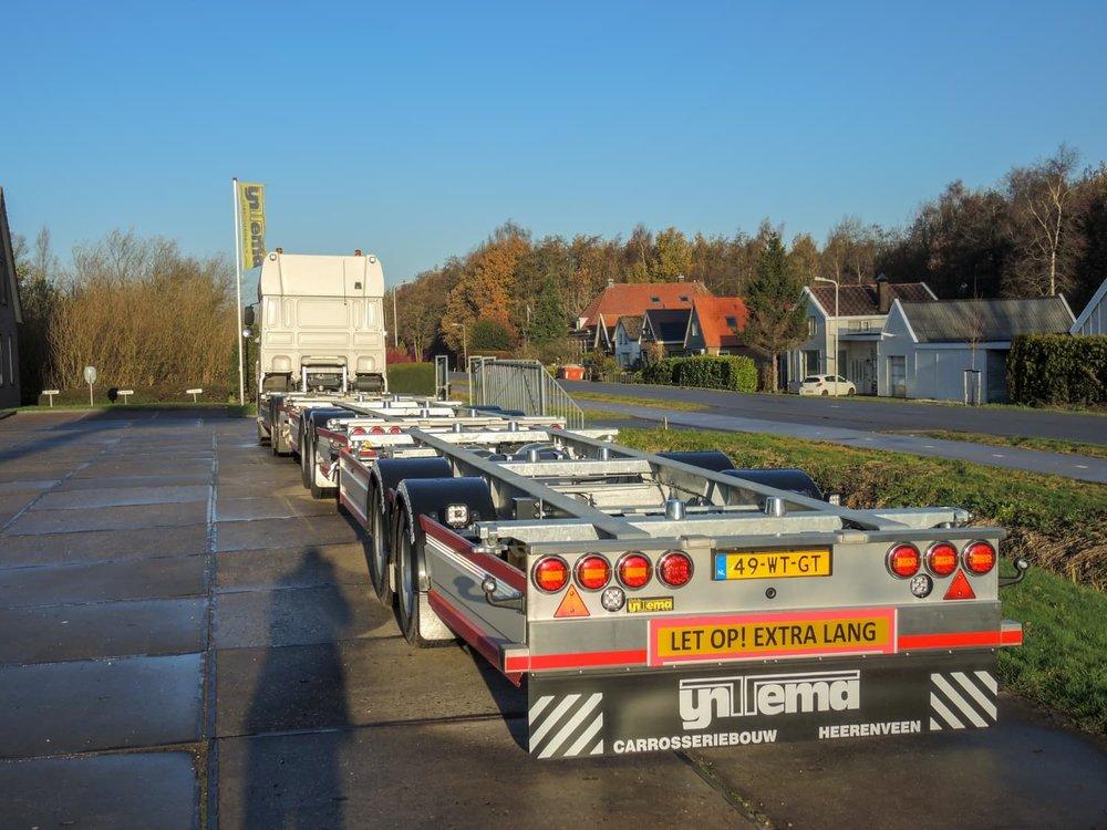 Middenas aanhangwagen Arrowline Amsterdam - schuin achter