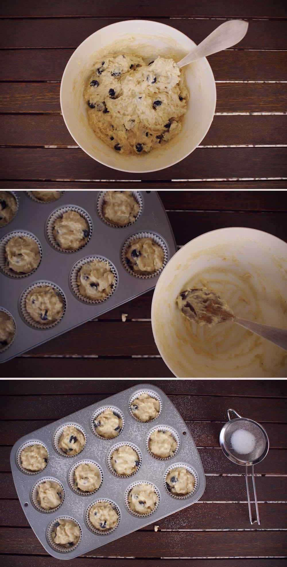 muffins ligeros de arándanos blueberry