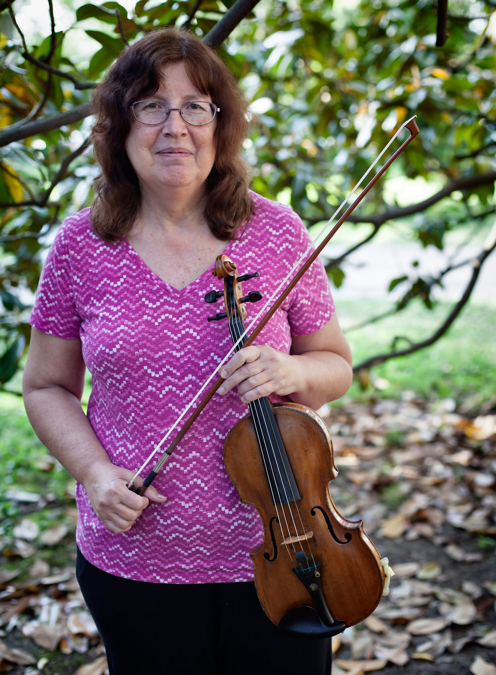 Nancy staidle: violin -  Nancy Staidle received a Bachelor of Music in violin performance degree from San Diego State University where she performed the Barber Concerto with the Orchestra. She has a Master of Music degree in violin performance from the University of Southern California where her principal teacher was Alice Schoenfeld.As a professional violinist she played one year with the Nashville Symphony and has been a member of the first violin section of the Louisville Orchestra since 1986. She also plays frequently as a member of the Derby City Strings.