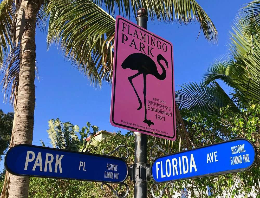 """While Flamingo park is tiny, Its big in character. Tree lines streets, an eclectic mix of historic homes, and a true neighborly vibe makes it a great place to put down roots. If you are in town for it check out the Flamingo Park Garden Tour, it will give you a great idea of the wonderful properties and people who live there.  """"The  Flamingo Park Historic Residential District  is a  U.S.   historic district  (designated as such on July 14, 2000) located in  West Palm Beach ,  Florida . The district is bounded by Park Place, Parker Avenue, Belvedere Road, and Florida Avenue. It contains 458 historic buildings.  It is served by the Howard Park Community Center, which provides services for the neighborhood as well as activities for other West Palm Beach residents. Flamingo Park is located conveniently close to downtown Clematis and City Place.  Flamingo Park's tree-lined streets are kept up by City of West Palm Beach employees and a neighborhood resident association, which recognizes a house every month for its visual improvement. The neighborhood strives to keep up its historic roots.""""    Source: Wikipedia"""
