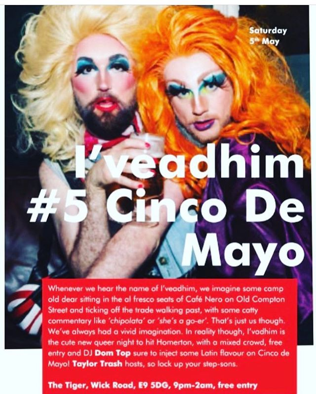 Being caught with the daughter @cliona_craic at @iveadhim a few months back! If you missed it, fear not folks Cos I'll be back at @thetigere9 for #cincodemayo with @iamdomtop and @tareqdisco for all the madness again. . It's a great night out and the music is FAB!! I also hear it's @princesssleya birthday party too! Yeeeeehaw!!!